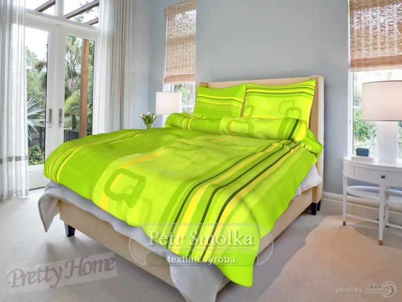Povlečení krep Tonda zelený 140x200+70x90