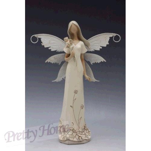 Anděl, andělka plechová křídla 21cm