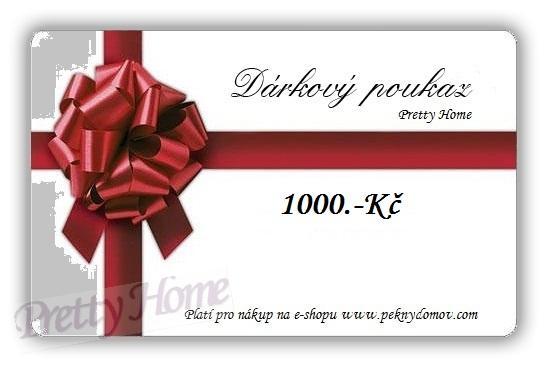 Dárkový poukaz peknydomov.com v hodnotě 1000Kč
