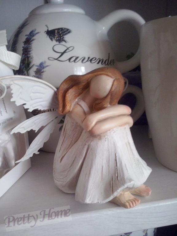Anděl, andělka plechová křídla 13cm