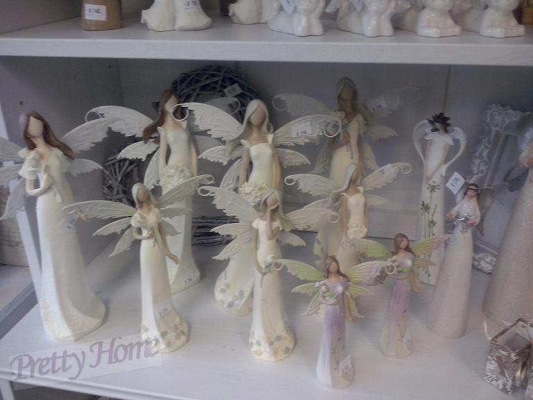 Anděl, andělka plechová křídla 16cm fialová