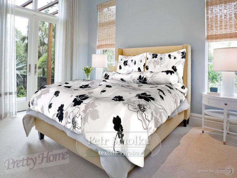Smolka povlečení bavlna Tapeta černobílá - 140x200+70x90