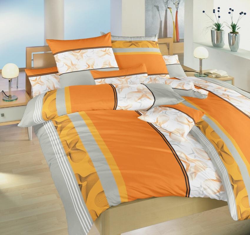 Dadka povlečení Medúza oranž -140x200+70x90
