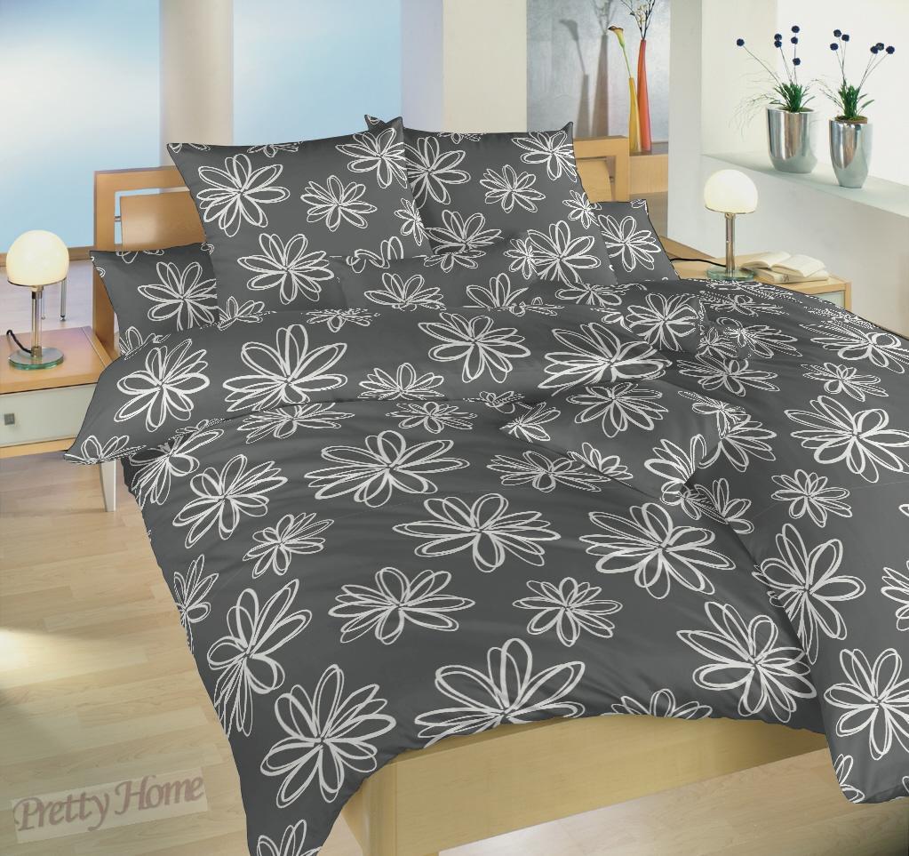 Dadka povlečení krep Karibik šedý -140x200+70x90