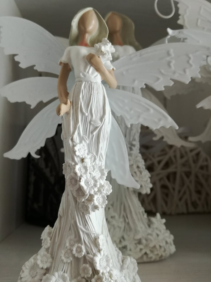 Anděl, andělka plechová křídla 16cm