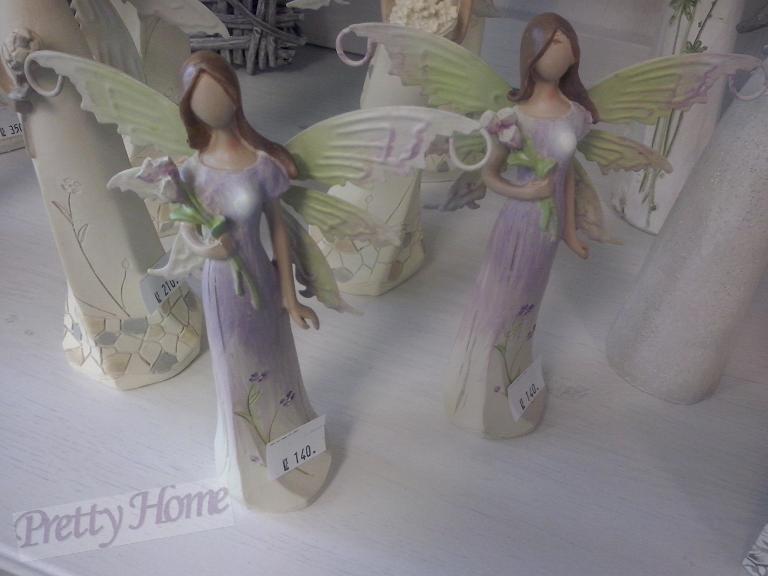 Anděl, andělka plechová křídla 29cm fialová